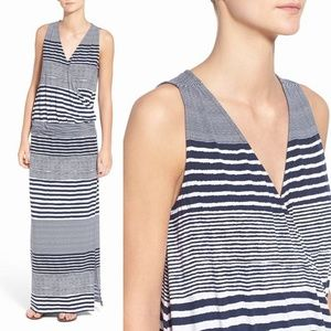 Tommy Bahama Navy & White Stripe Maxi Dress